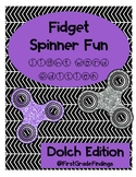 Fidget Spinner Fun Sight Words Edition Dolch Version