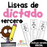 Ortografía Tercer Grado Spelling List Spanish