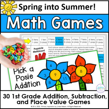 Spring into Summer One Page Math Games