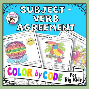 Color by Code Grammar - Subject Verb Agreement