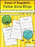 Zones of Regulation - Yellow Zone Bingo - Emotional Regulation Curriculum