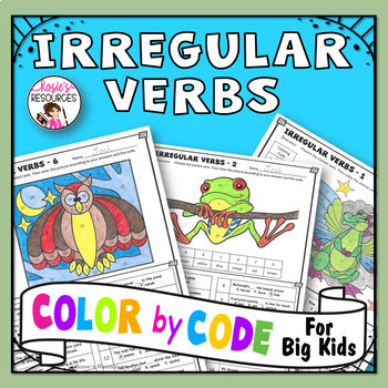 Irregular Verbs Coloring Pages by Rosie\'s Resources | TpT