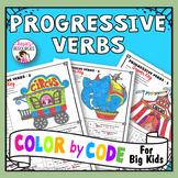 Color by Code Grammar - Progressive Verbs