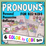 Color by Code Grammar - Pronouns Set 1