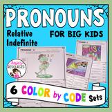 Color by Code Grammar - Pronouns Set 2
