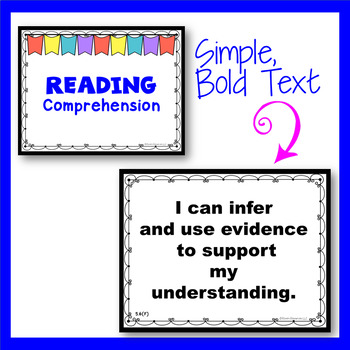 TEKS I Can Statements 5th Grade ELAR