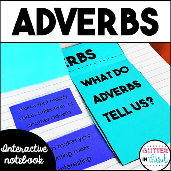 Adverbs Grammar Interactive Notebook