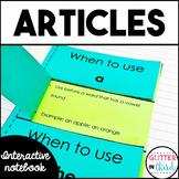 Articles - Grammar Interactive Notebook