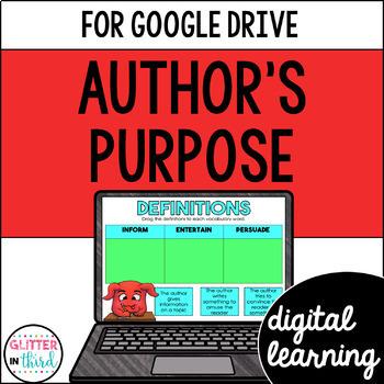 Author's Purpose for Google Classroom DIGITAL