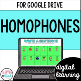 Homophones for Google Classroom DIGITAL