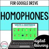 Homophones for Google Classroom DIGITAL