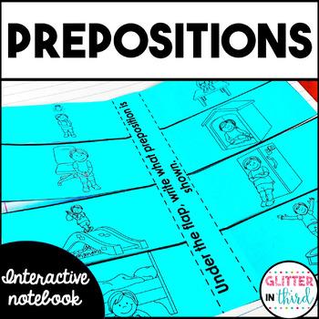 Prepositions - Grammar Interactive Notebook