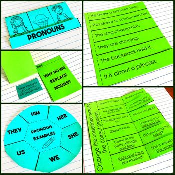 Pronouns Grammar Interactive Notebook