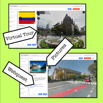 South America Virtual Tour / WebQuest / Worksheet / Cultural Lesson Plan