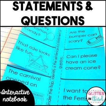 Statements & Questions - Grammar Interactive Notebook
