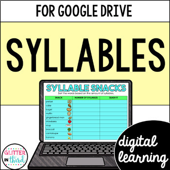 Syllables for Google Classroom DIGITAL