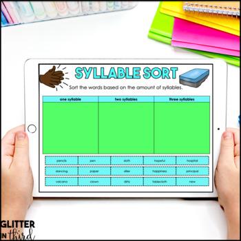 Syllables for Google Classroom DIGITAL