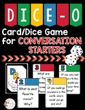 DICE-O Conversation Starters Card/Dice Game for Speech therapy, Counseling, HFA