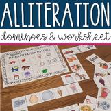 Alliteration Dominoes - For pre-k and kindergarten centers