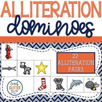 Alliteration Dominoes - For pre-k and kindergarten centers