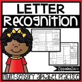 Letter Recognition Activity Worksheets