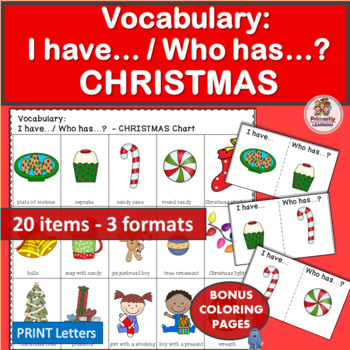 Vocabulary Activities: I have… /Who has…? CHRISTMAS