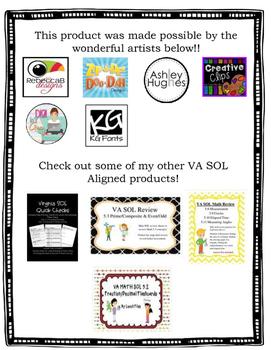 GRADE 5 MATH VIRGINIA SOL 5.1 HOMEWORK