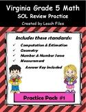 5th Grade VA SOL REVIEW PRACTICE #1