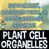 PLANT CELL ORGANELLES WORKSHEET CROSSWORD ADDITIONAL RESOURCES, Texas TEKS 7.12D