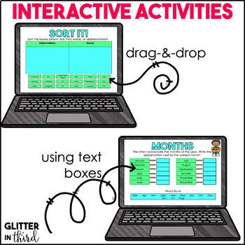 Abbreviations for Google Drive & Google Classroom GRAMMAR