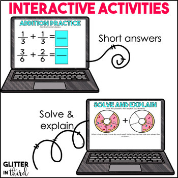 Adding & Subtracting Fractions for Google Drive & Classroom