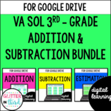 Google Classroom Distance Learning 3rd Grade Addition & Subtraction Virginia SOL