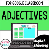 Google Classroom Distance Learning Adjectives