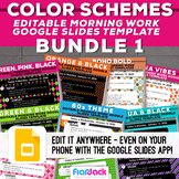 COLOR SCHEME Editable GOOGLE SLIDES Templates Bundle 1