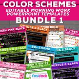 COLOR SCHEME Editable POWERPOINT Templates Bundle 1