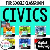 Civics & Government for Google Classroom DIGITAL BUNDLE