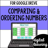 Comparing & ordering numbers for Google Classroom DIGITAL