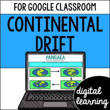 Continental drift and Pangaea for Google Classroom DIGITAL