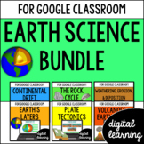 Google Classroom Distance Learning Earth Science Bundle