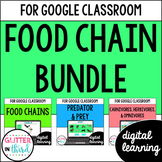 Food Chains, webs, predator, prey, & eaters for Google Classroom Digital BUNDLE