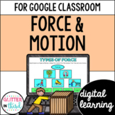 Force and motion for Google Classroom Distance Learning