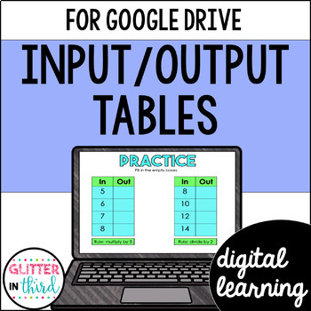 Function Tables for Google Drive & Google Classroom Math