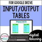 Google Classroom Distance Learning Input Output Tables