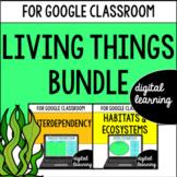 Habitats & Ecosystems for Google Classroom DIGITAL BUNDLE