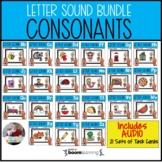 Letter Sounds Boom Card BUNDLE | Consonant Sounds
