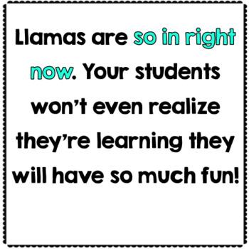 Llama Multiplication Math Game Center