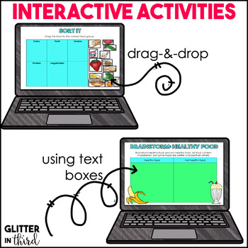 Nutrition Digital Activities for Google Slides HEALTH