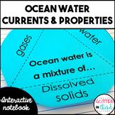 Ocean currents & salinity Interactive Notebook