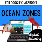 Ocean zones for Google Classroom Distance Learning