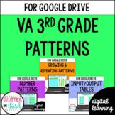 Google Classroom Distance Learning 3rd Grade Patterns Virginia SOL